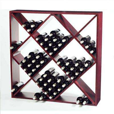 120-Bottle Mahogany Floor Wine Rack