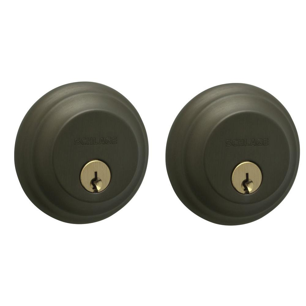 Schlage Double Cylinder Oil Rubbed Bronze Deadbolt-DISCONTINUED