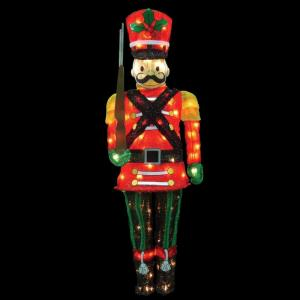 60 In Candy Cane Lane Led Pre Lit Toy Soldier 96593 Mp1