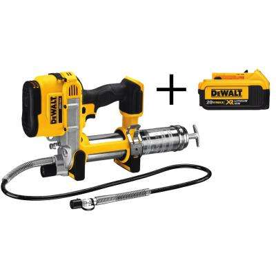 20-Volt MAX Lithium Ion Cordless Grease Gun (Tool-Only) with Bonus XR 4.0 Ahr Battery Pack