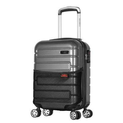Nema 18 in. Black Under the Seat Carry-On PC Hardcase Spinner with TSA Lock