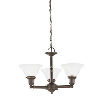Sussex 3-Light Heirloom Bronze Chandelier with LED Bulbs