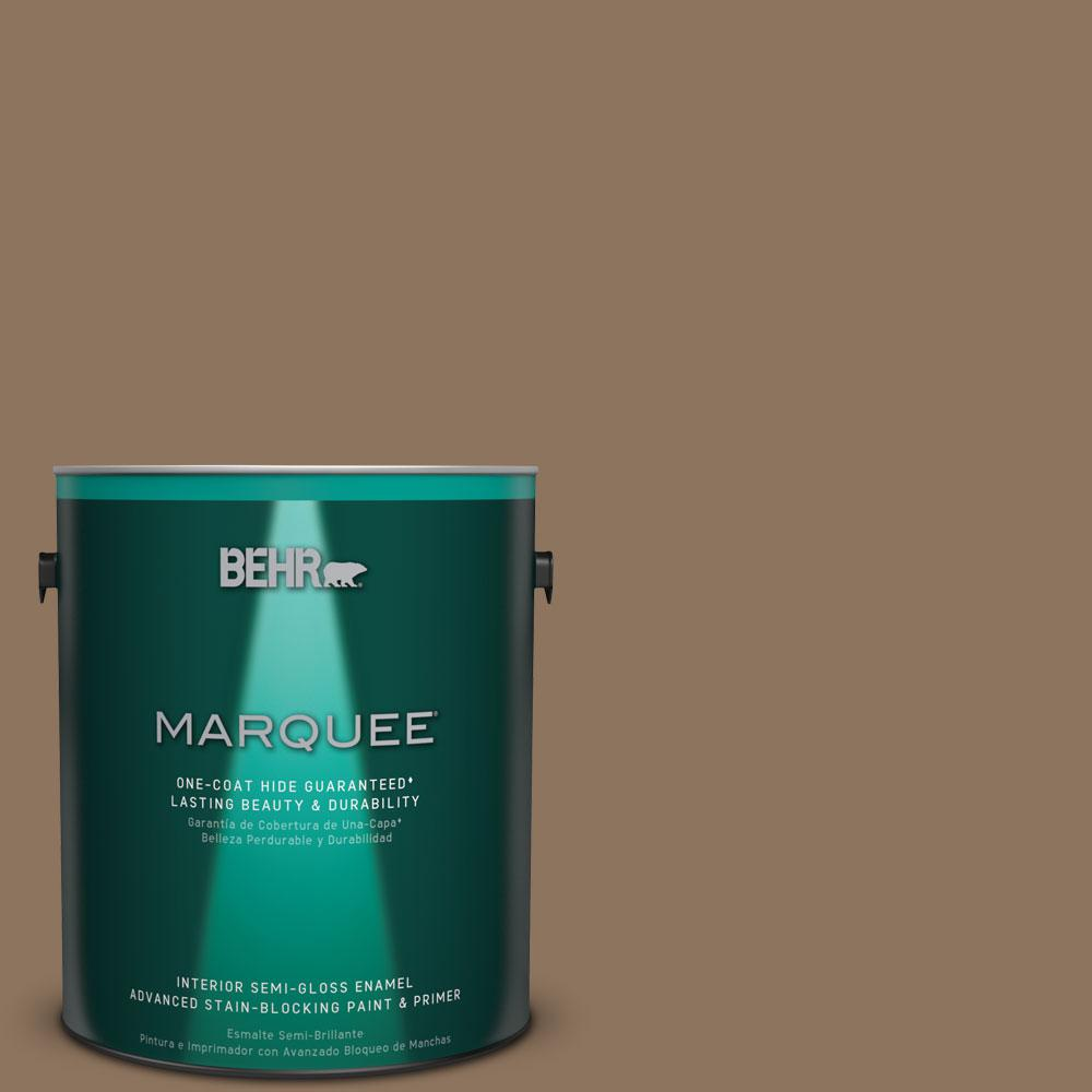 BEHR MARQUEE 1 gal. #N260-6 Outdoor Cafe One-Coat Hide Semi-Gloss Enamel Interior Paint, Outdoor Café