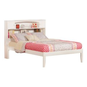 Newport White Full Platform Bed with Open Foot Board