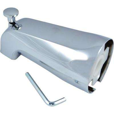 Adjustable Tub Spout with Front Diverter in Chrome Finish
