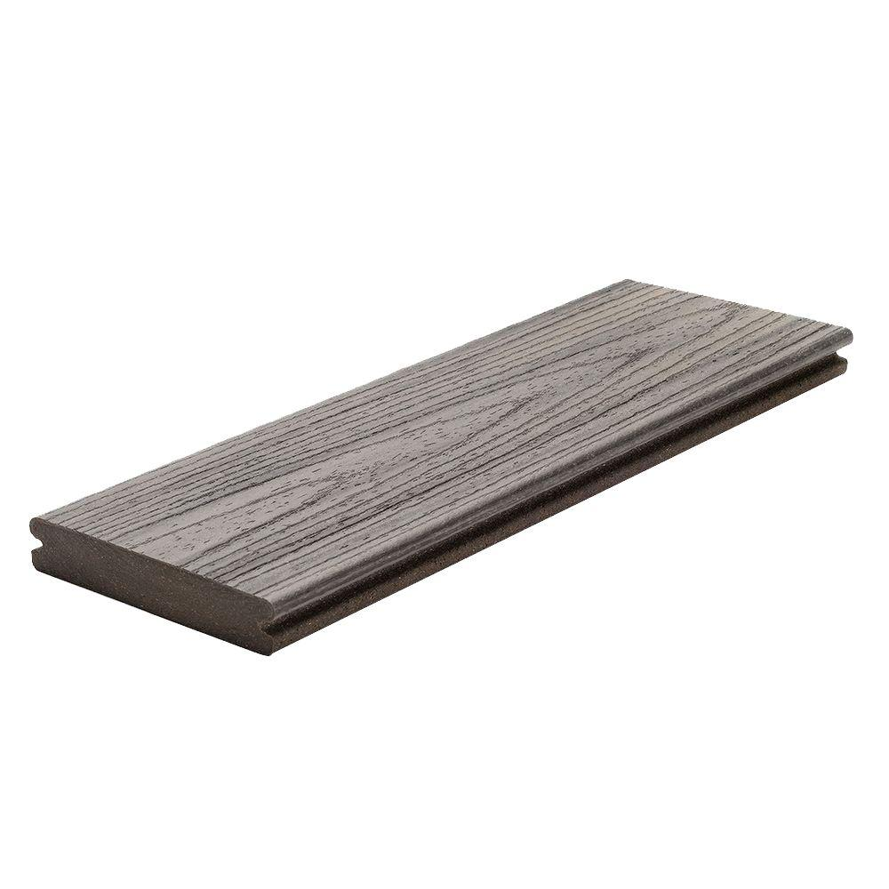 Trex transcend 1 in x 5 1 2 in x 12 ft island mist for Capped composite decking
