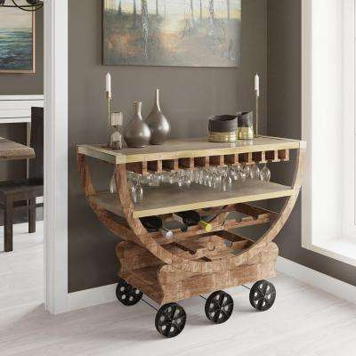 Lite Coffee Wine Cart with Storage
