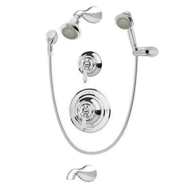 Carrington 2-Handle 3-Spray Tub and Shower Faucet with Hand Shower in Chrome (Valve Included)