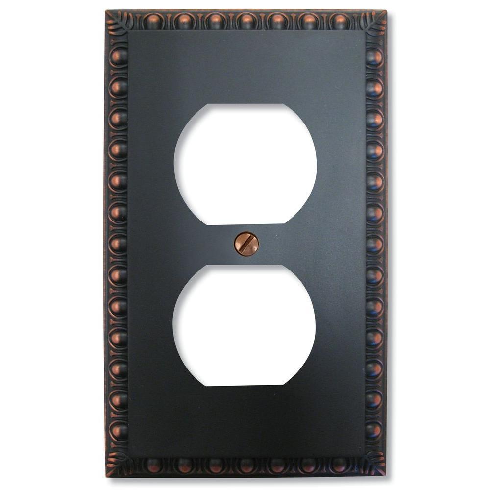 Bronze 1-Gang 1-Duplex/ 1-Single Wall Plate
