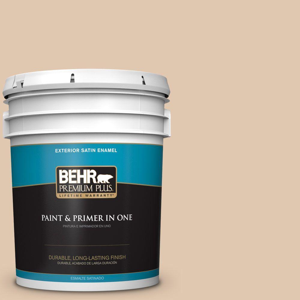 5-gal. #N260-2 Almond Latte Satin Enamel Exterior Paint