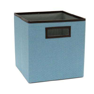 10.5 in.  x 11 in.  Coastal Blue Linen Fabric Drawer