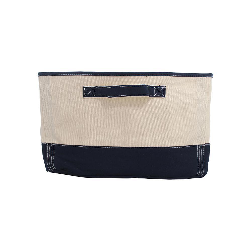 Navy Tub Fabric Storage Bin