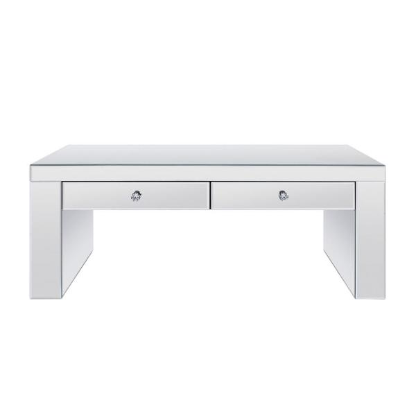Acme Furniture Noralie Mirrored and Faux Diamonds Coffee Table