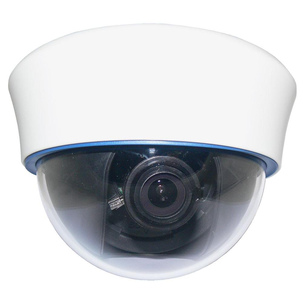 SPT Wired 700 TVL High Resolution Indoor Dome Security Camera - White