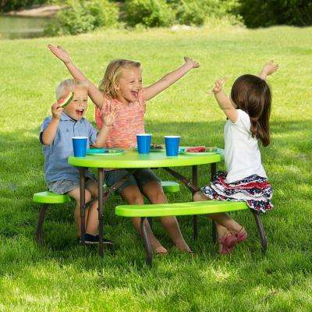 Lime Green Childrenu0027s Picnic Table