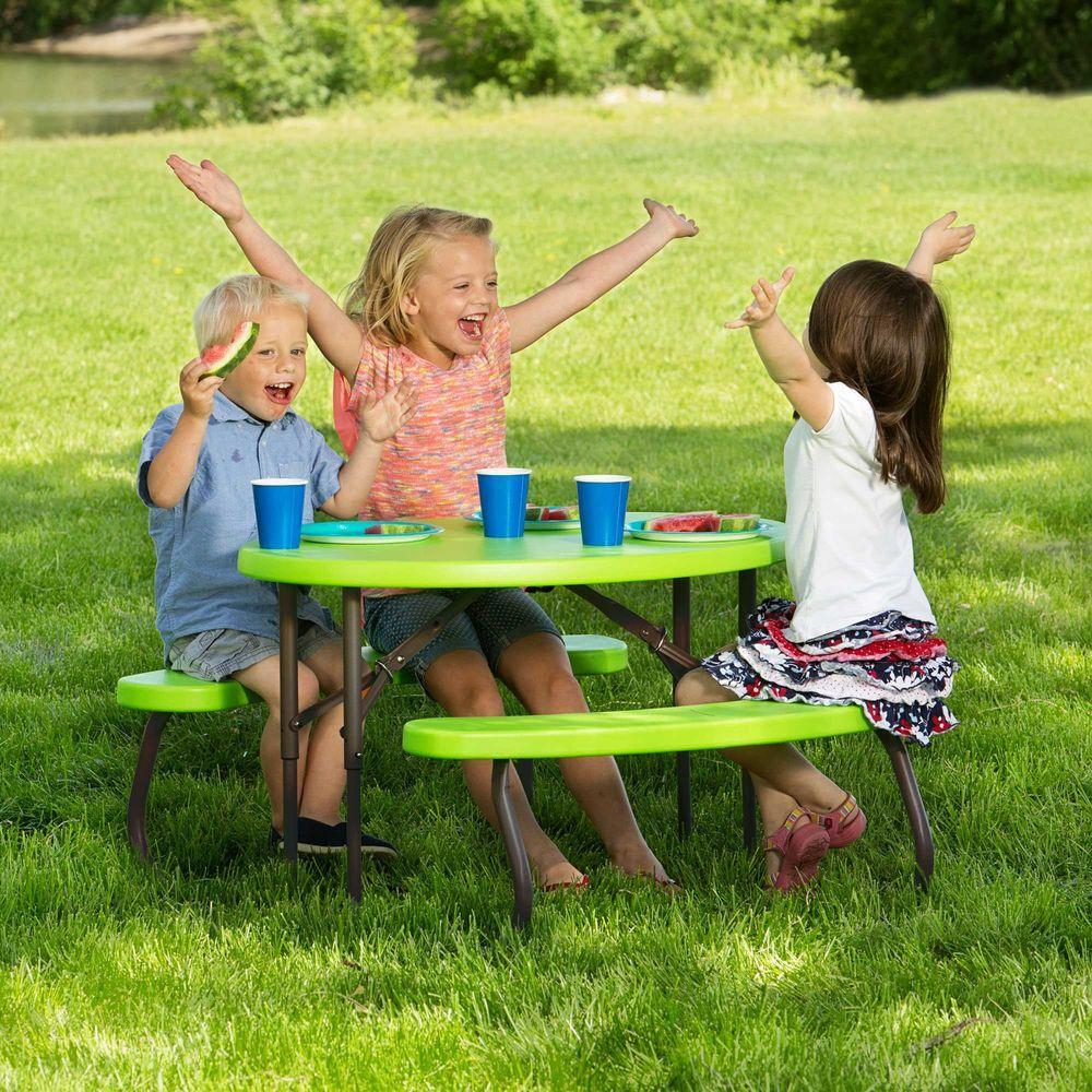 Peachy Lifetime Lime Green Childrens Picnic Table Creativecarmelina Interior Chair Design Creativecarmelinacom