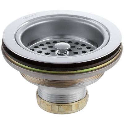 Duostrainer 4-1/2 in. Sink Strainer in Polished Chrome