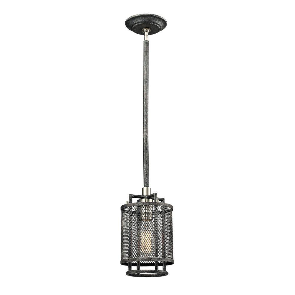 Home Decorators Collection 1 Light Silvered Graphite
