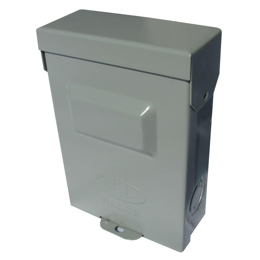 Fuse Box Home Depot : Halex amp volt non fuse metallic ac disconnect