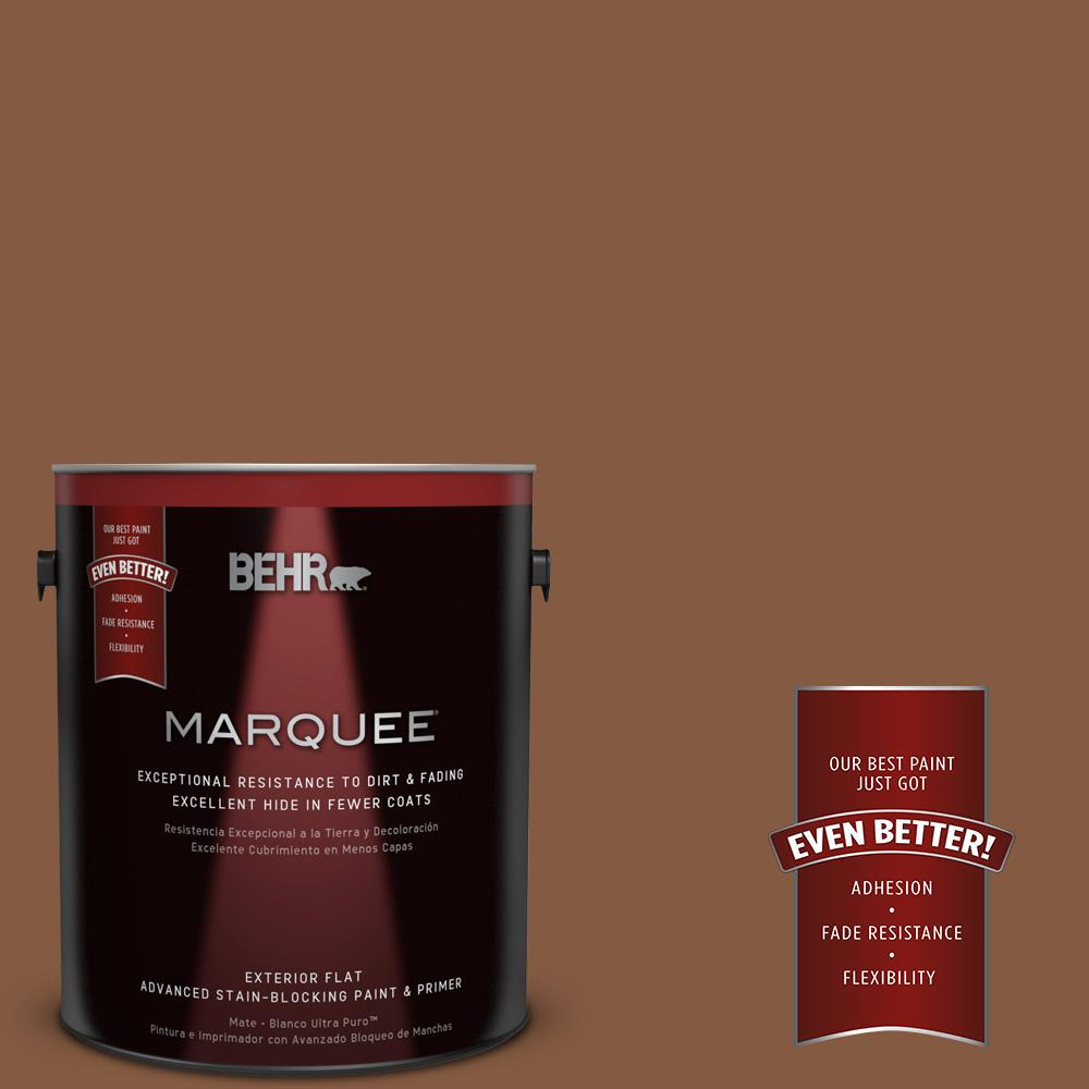 1-gal. #ICC-80 Cinnamon Spice Flat Exterior Paint