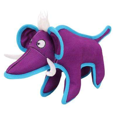 Purple Animal Dura-Chew Reinforce Stitched Durable Water Resistant Plush Chew Tugging Dog Toy