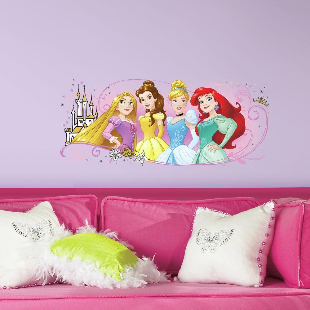 e0f2dcc992 RoomMates 5 in. x 19 in. Disney Princess Friendship Adventures 1-Piece Peel