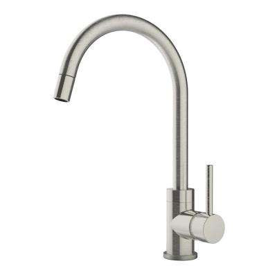 Dia Single-Handle Pull-Down Sprayer Kitchen Faucet in Satin Nickel