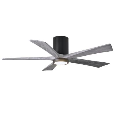 Irene 52 in. LED Indoor/Outdoor Damp Matte Black Ceiling Fan with Remote Control and Wall Control