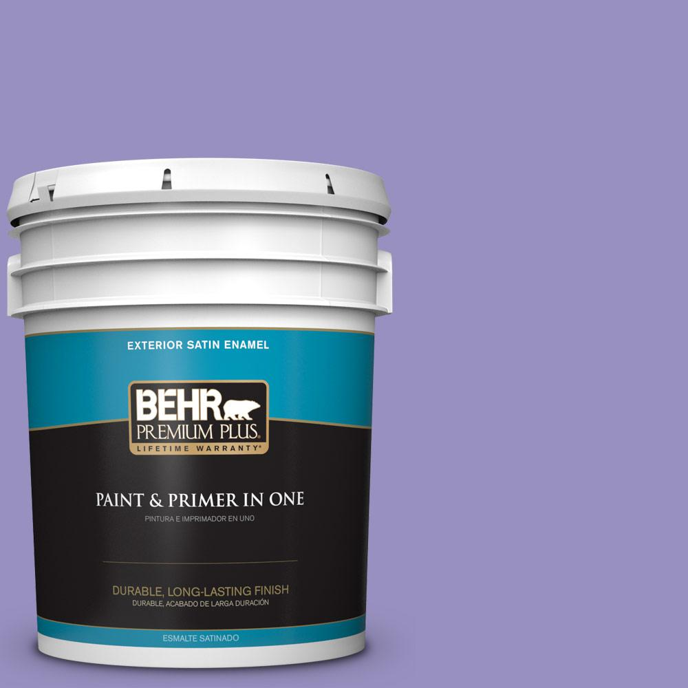 5 gal. #PPU16-05 Lily of the Nile Satin Enamel Exterior Paint
