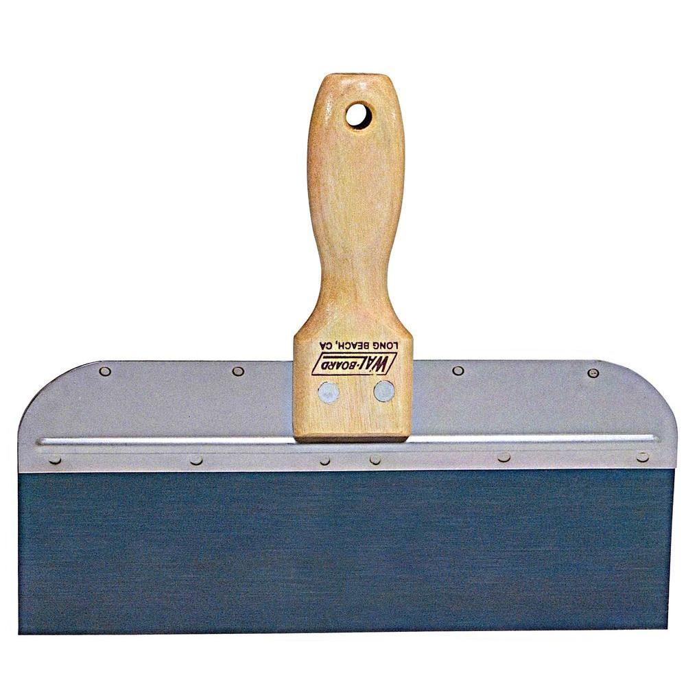 DK-10 10 in. Wood Handle Taping Knife Blue Steel Blade