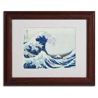 11 in. x 14 in. The Great Kanagawa Wave Matted Framed Art