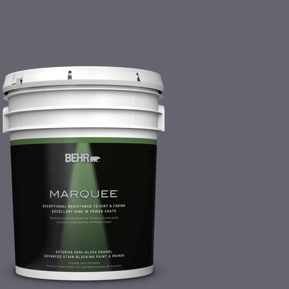 BEHR MARQUEE 5-gal. #N550-6 Alter Ego Semi-Gloss Enamel Exterior Paint