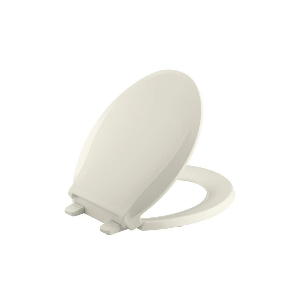 KOHLER Cachet Round Closed Front Toilet Seat in Biscuit