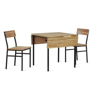 Super Dorel Living Ross 3 Piece Natural Drop Leaf Wood And Gmtry Best Dining Table And Chair Ideas Images Gmtryco