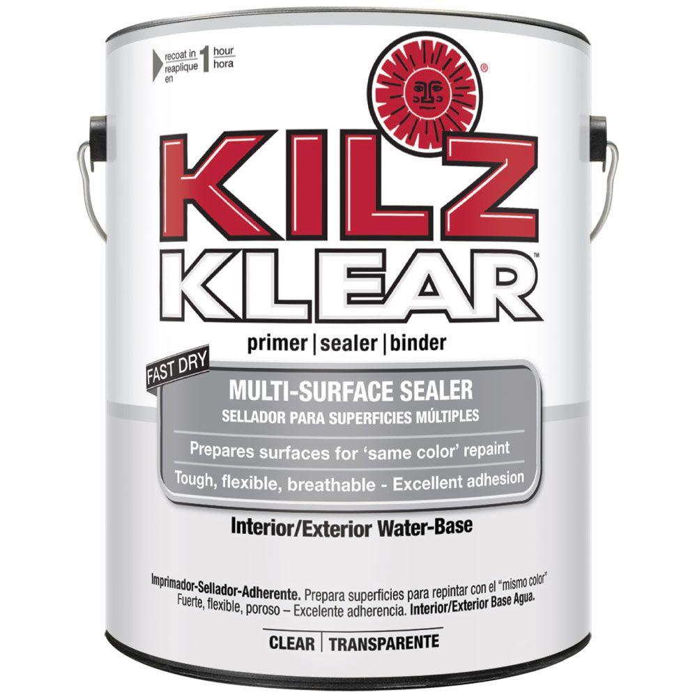 KILZ KLEAR 1-gal. Water-Based Multi-Surface Interior/Exterior ...