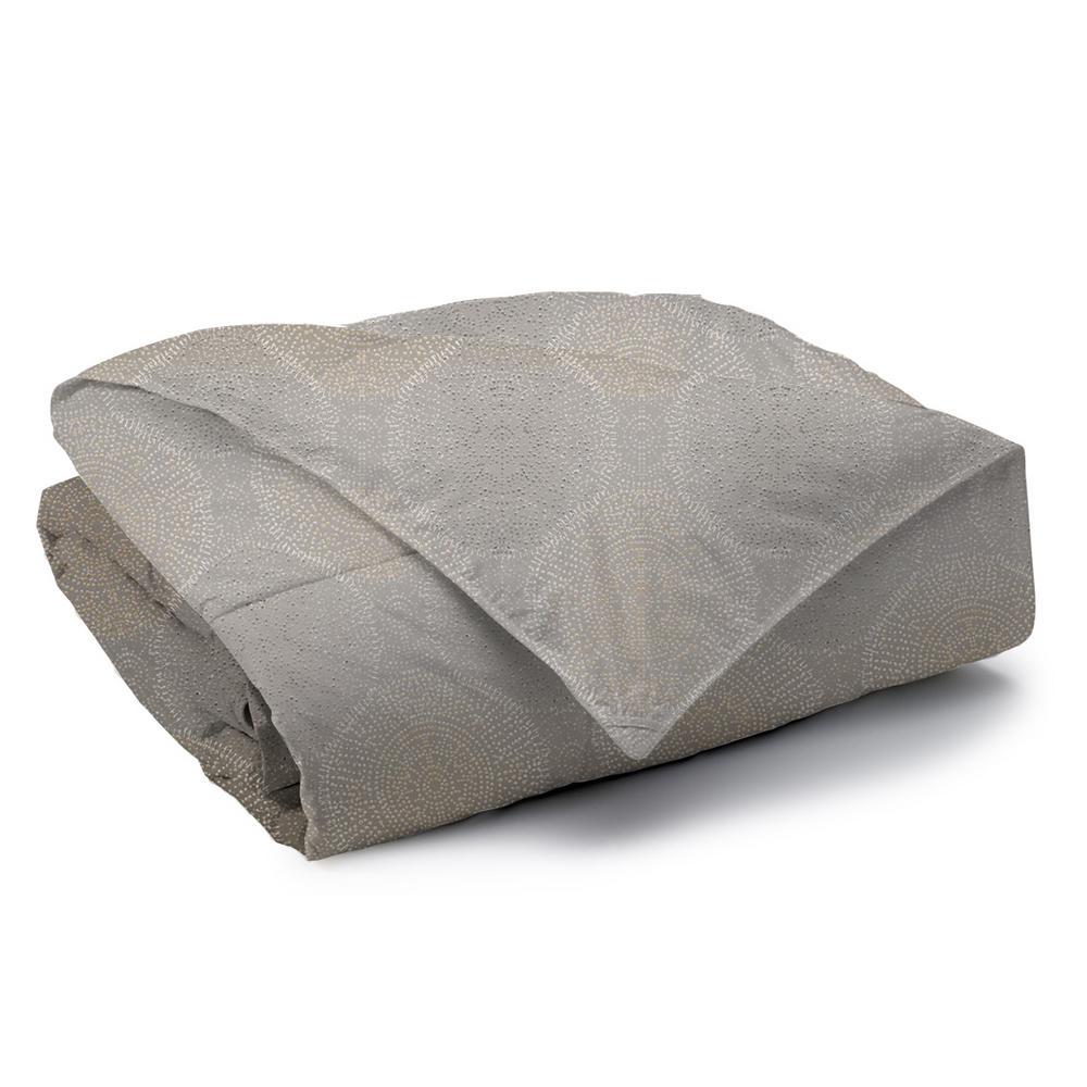 Humus Reversible Print 100% Organic Cotton Wrinkle Resistant Duvet Set and Insert