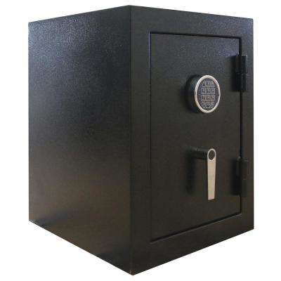 3.32 cu. ft. Steel Jewelry Wall Safe with Electronic Lock Black