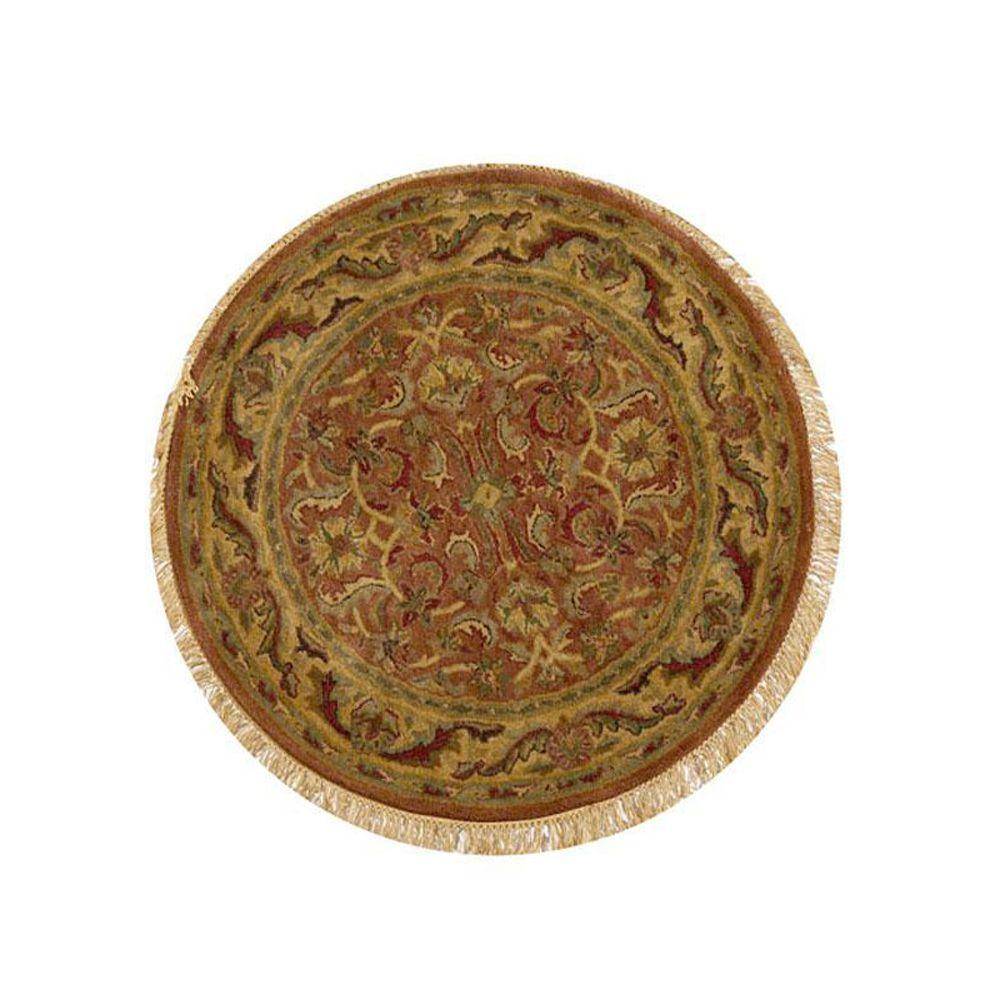 Home Decorators Collection Chantilly Brick 5 ft. 5 in. Round Area Rug