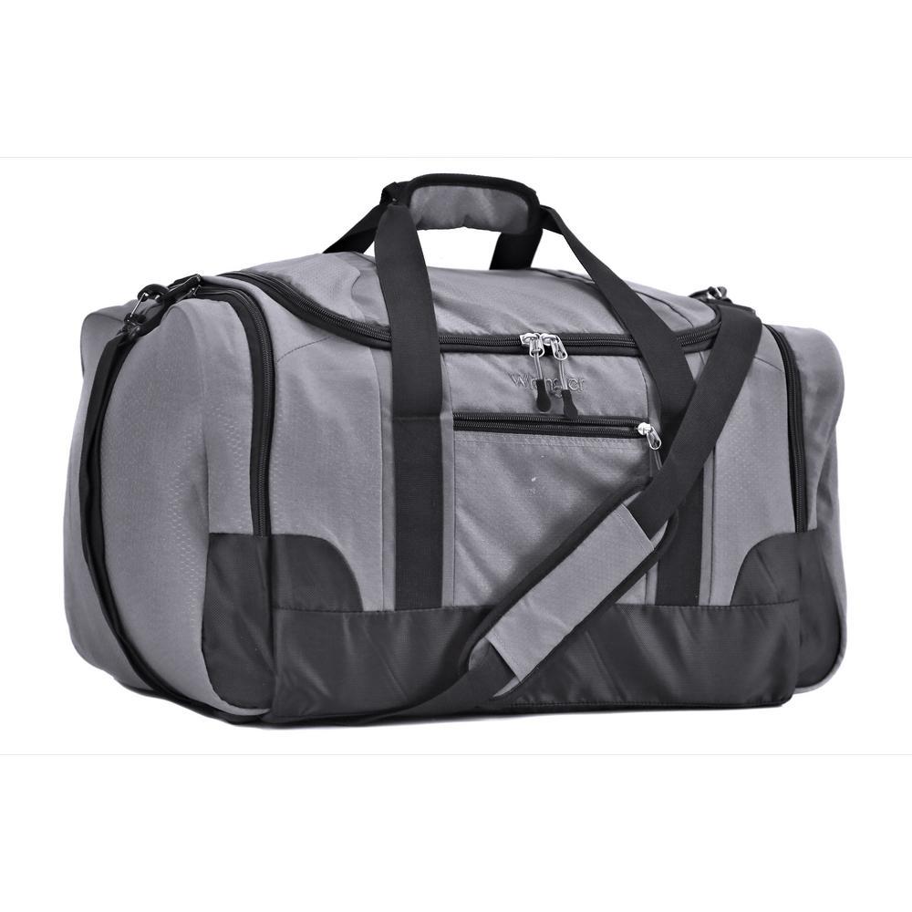 28 in. Gray Multi-Pocket Sport Duffel Bag