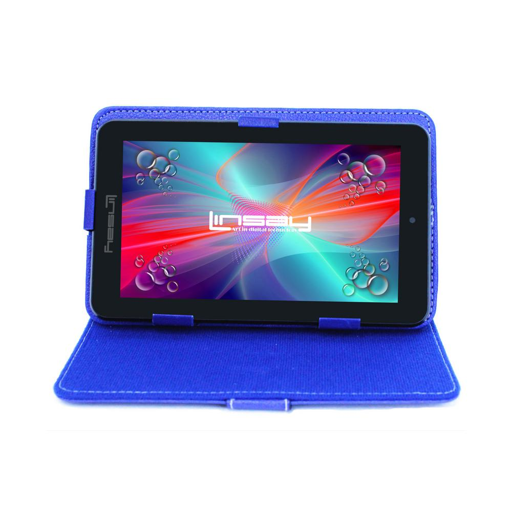 LINSAY 7 in. 2GB RAM 16GB Android 9.0 Pie Quad Core Tablet with Blue Case was $119.99 now $54.99 (54.0% off)