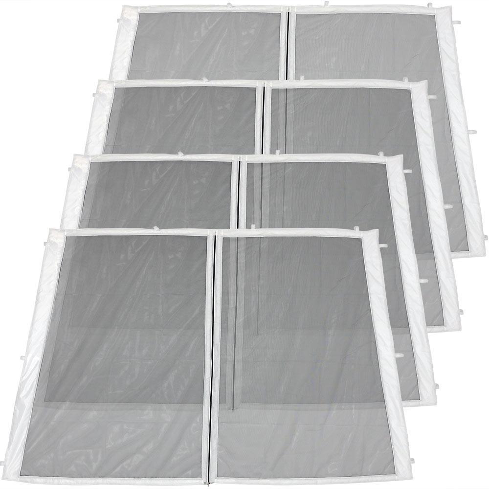 Zippered Mesh Sidewall Panels for 8 ft. x 8 ft. Slant Leg Canopy (4-Pack)