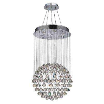 Saturn Collection 7-Light Polished Chrome Crystal Chandelier