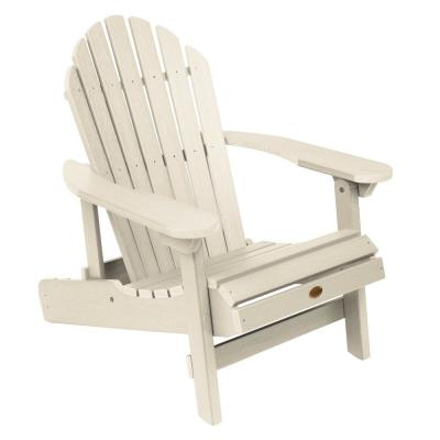 Hamilton Whitewash Folding and Reclining Plastic Adirondack Chair