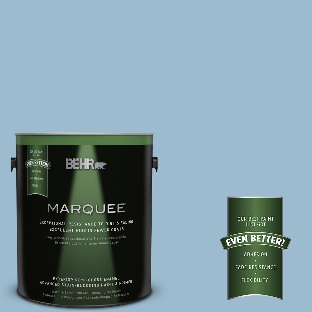 BEHR MARQUEE 1-gal. #S500-3 Partly Cloudy Semi-Gloss Enamel Exterior Paint