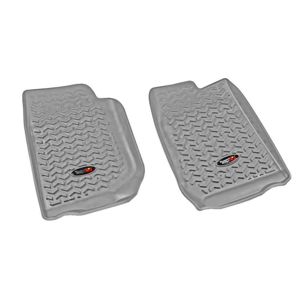 Floor Liner Front Pair Gray 2007-2013 Jeep Wrangler JK