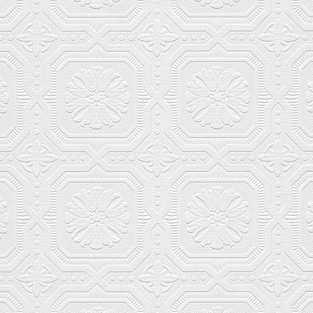 Norwall Tin Tiles Paintable Wallpaper