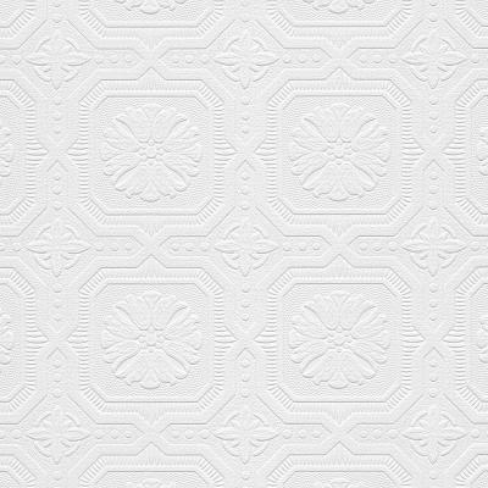 Tin Tiles Paintable Wallpaper