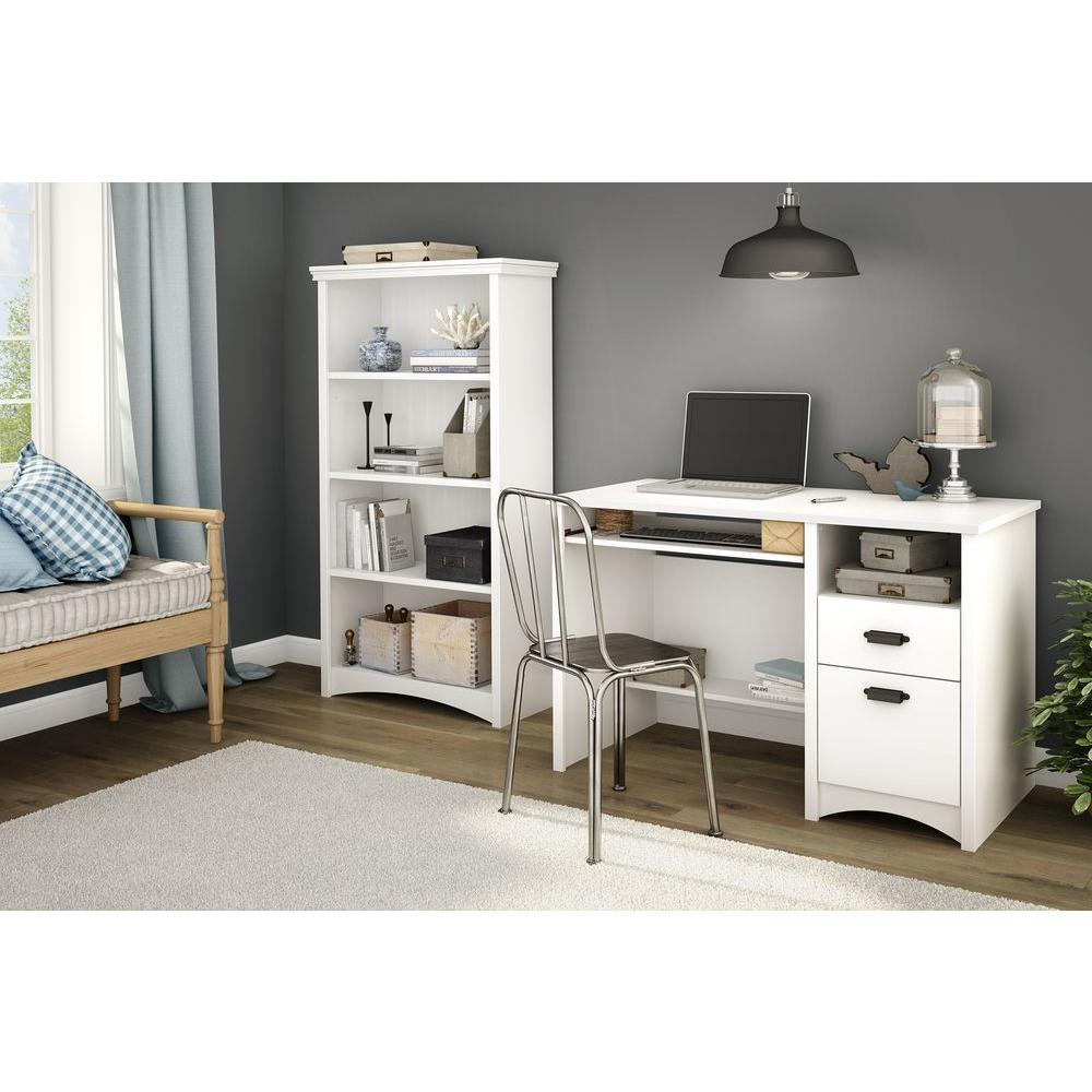 Artwork Pure White Open Bookcase