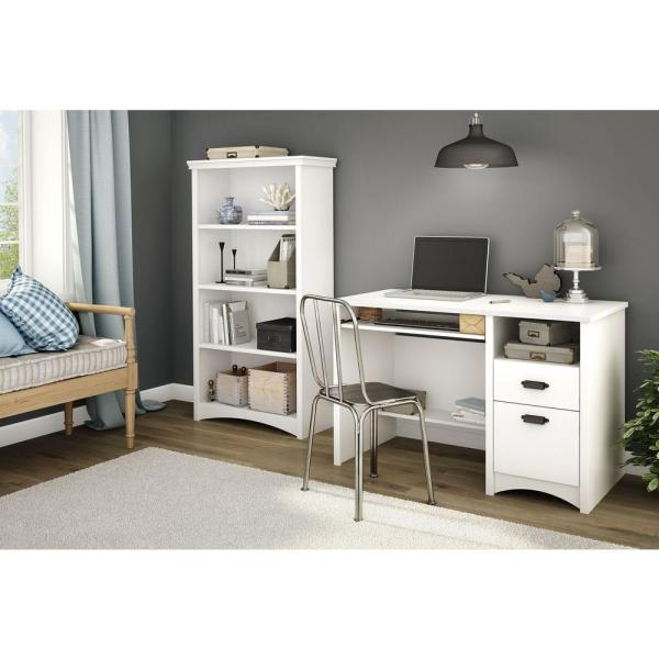 South Shore Artwork Pure White Open Bookcase 10219