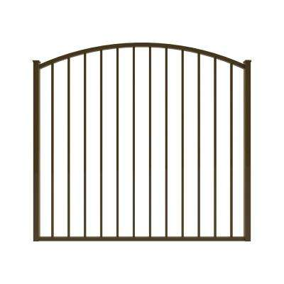 Newtown 5 ft. W x 4 ft. H Bronze Aluminum Arched Pre-Assembled Fence Gate